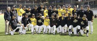 PHSC Team holds NJCAA World Series Division II trophy